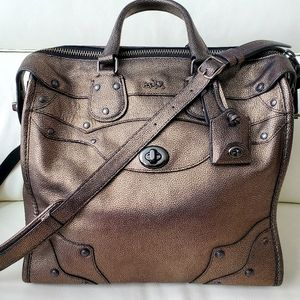 Coach Rhyder 33 oversized satchel bronze leather
